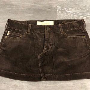 Hollister corduroy mini skirt